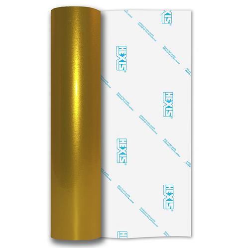 Yellow Heavy Metal Gloss Self Adhesive Vinyl