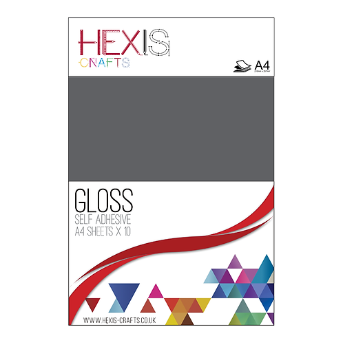 Dark Grey Gloss Self Adhesive Vinyl Sheets x 10
