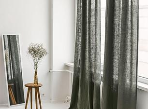 Extra Long Linen Curtain, Safari Linen W
