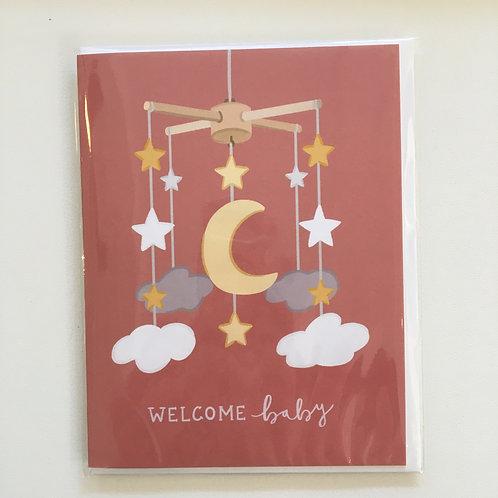 Welcome Baby Card (Bloomwolf Studio)