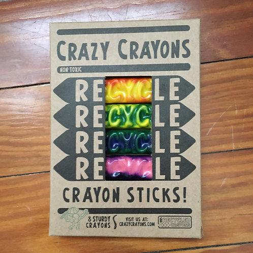 Recycled Crayon Sticks (Crazy Crayons)