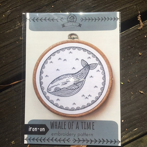 Whale of a Tale Embroidery Pattern (Cozyblue)