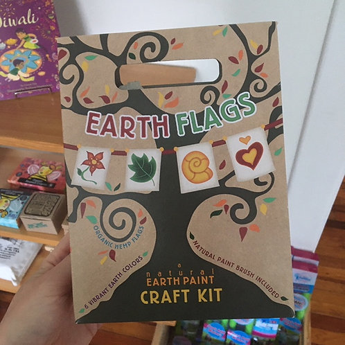 Earth Flags Craft Kit (Natural Earth Paint)