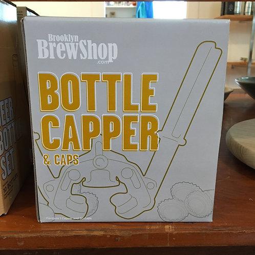 Bottle Capper and Caps (Brooklyn Brew Shop)
