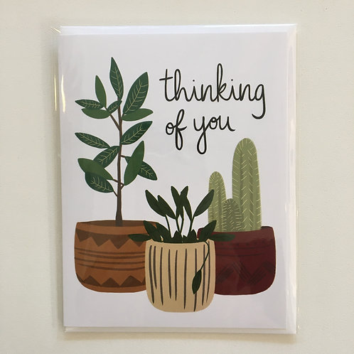 Thinking of You Blank Card (Bloomwolf Studios)