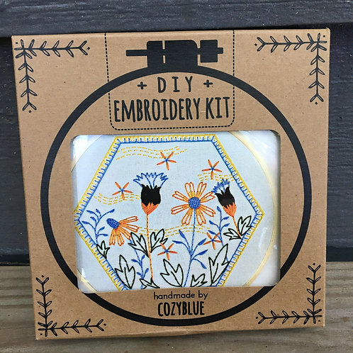 Summer Breeze Embroidery Kit (Cozy Blue)