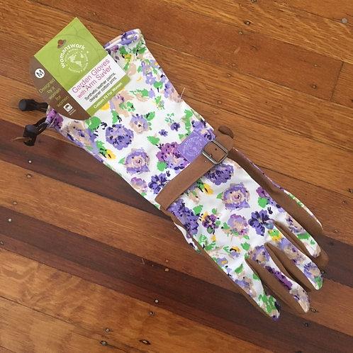 Womens Garden Gloves With Arm Saver Medium (Womenswork)
