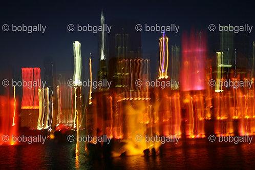 Abstract photo of Buckingham Fountain