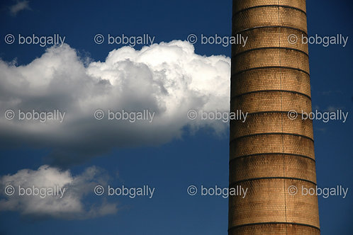 Smokestack and Clouds Abstract