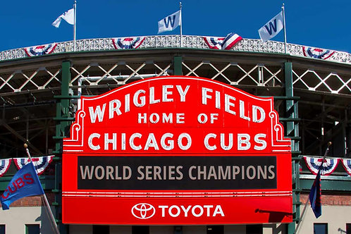 Cubs Wrigley Field World Series Champions