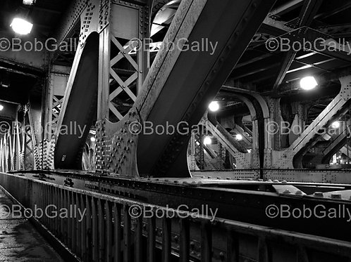 Chicago Bridge Struture Black and White