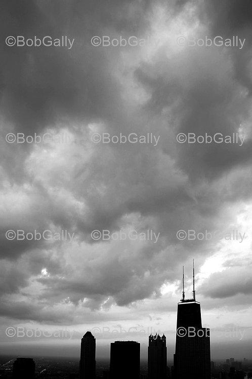 Clouds over the Hancock (Vert)