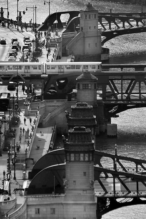 Chicago River Bridges and El