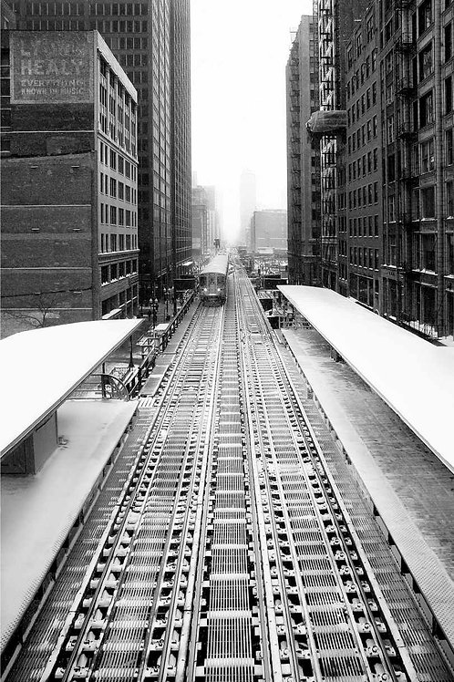 Chicago CTA El Snowy Station