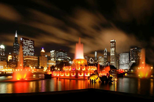 Chicago Buckingham Fountain in color