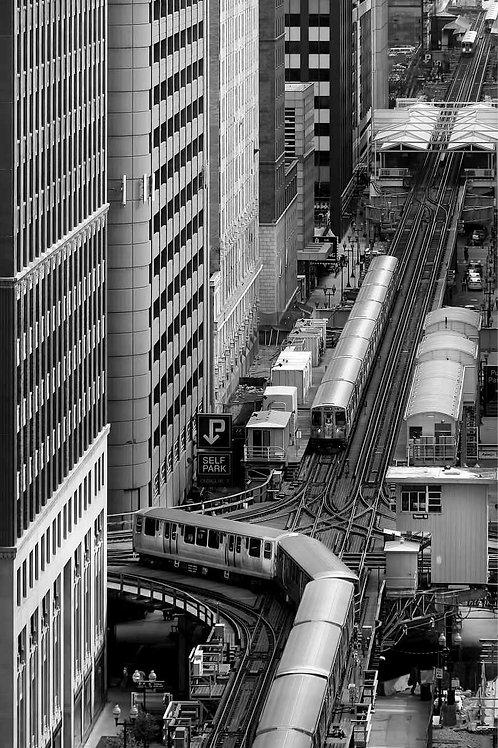 Chicago CTA El Loop Crossing