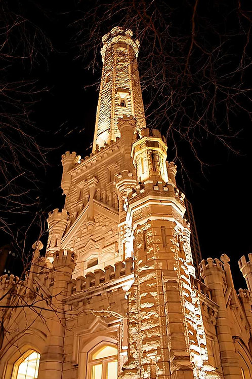 Chicago Water Tower in color
