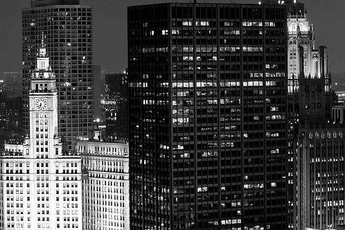 Chicago Architecture Black vs. White