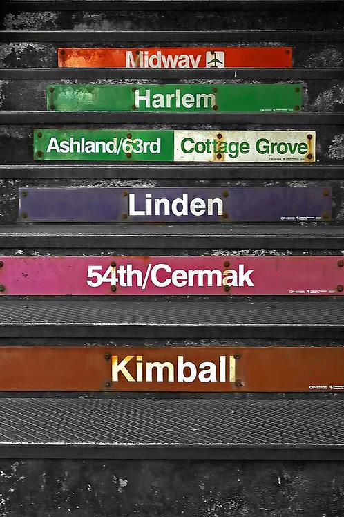 Chicago CTA Loop El stairs