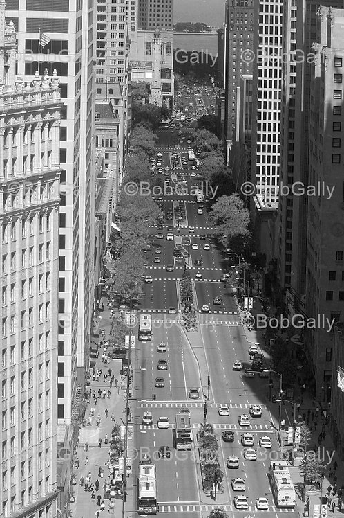 Chicago Michigan Avenue from above