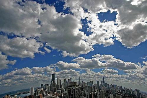 Aerial skyline clouds