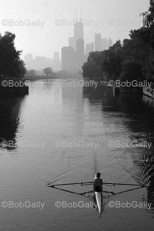 Rowing on Lagoon