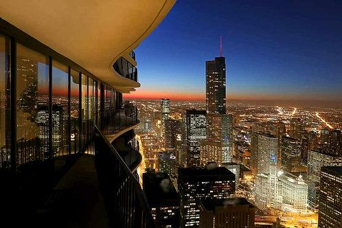 Chicago Aqua Building view
