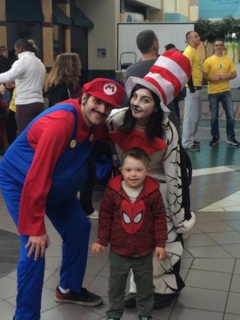Characters at the Broadway Commons