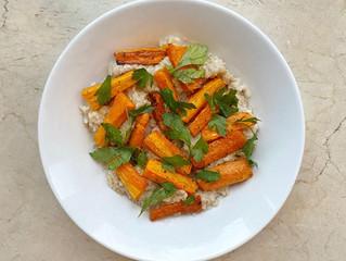 Roasted Root Vegetables & Lemon Herbed Oats