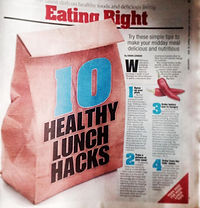 How to eat at work and not get fat. Interviewed for the New York Post on healthy lunch hacks. how not to put on weight. Healthy lunch hacks, lunch ideas, healthy food, weightloss tips