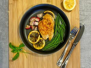 Pan Roasted Lemon Basil Chicken & Veggies