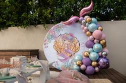 Mermaid Backdrop & Balloons