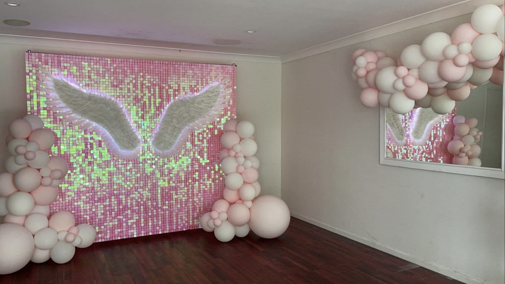 Pink Shimmer Wall