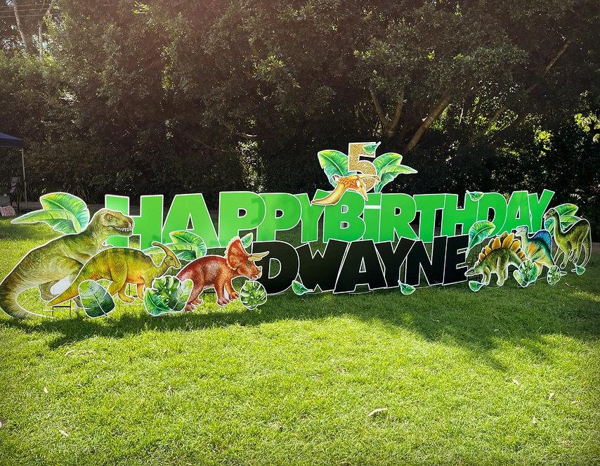 Dinosaur Birthday Sign