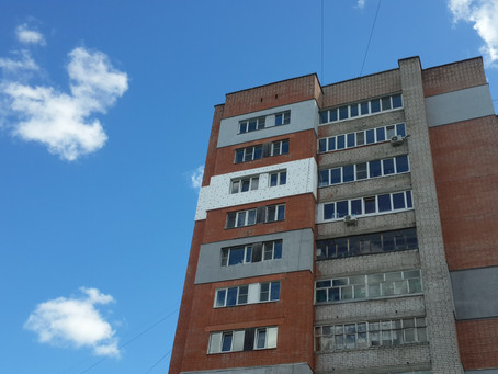 Утепление фасада (10 этаж).