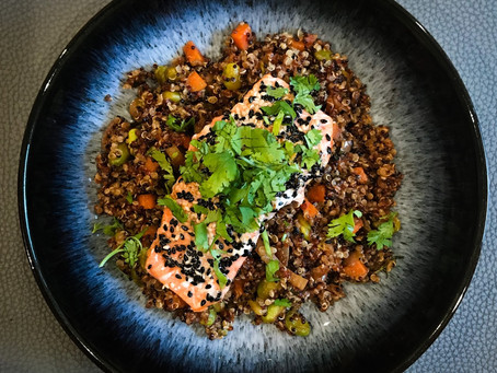 Sesame Crusted Salmon & Quinoa