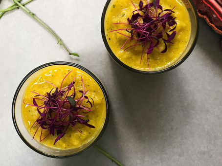 Pineapple & Courgette Gazpacho