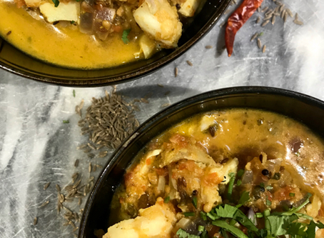 One Pan Cod Curry