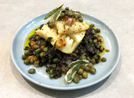 Cod and Puy Lentils
