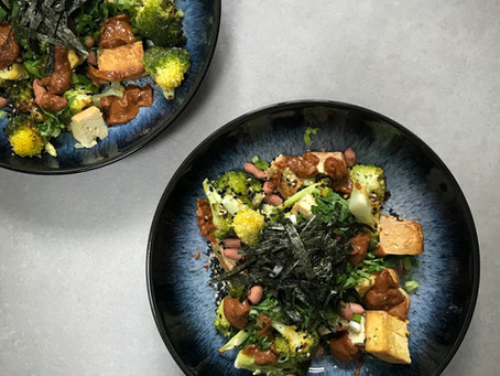 Broccoli & Smoked Tofu Salad⁠