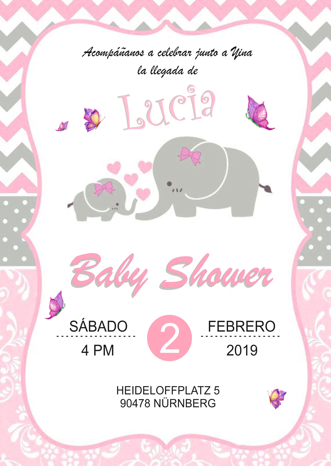 Baby Shower Einladung