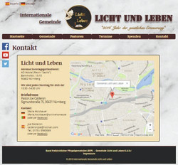 Web-Seite (Kontaktseite)