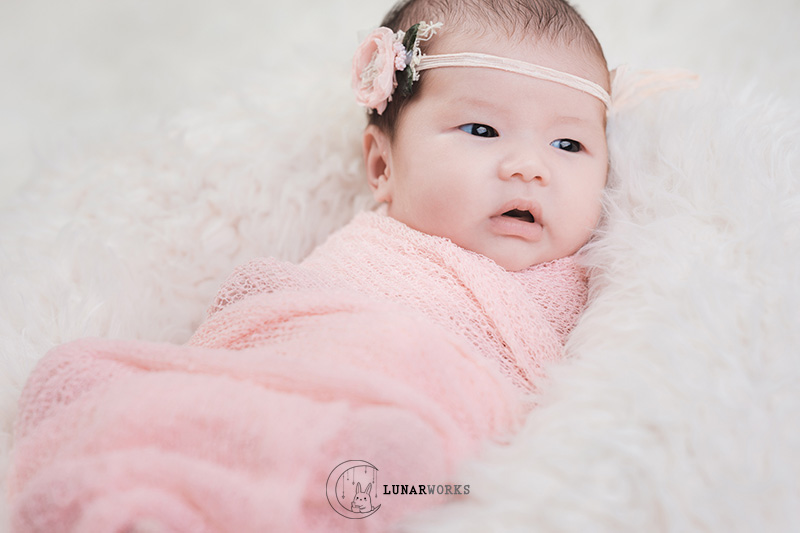 Newborn-Photography-Pink-Wrap-Singapore.