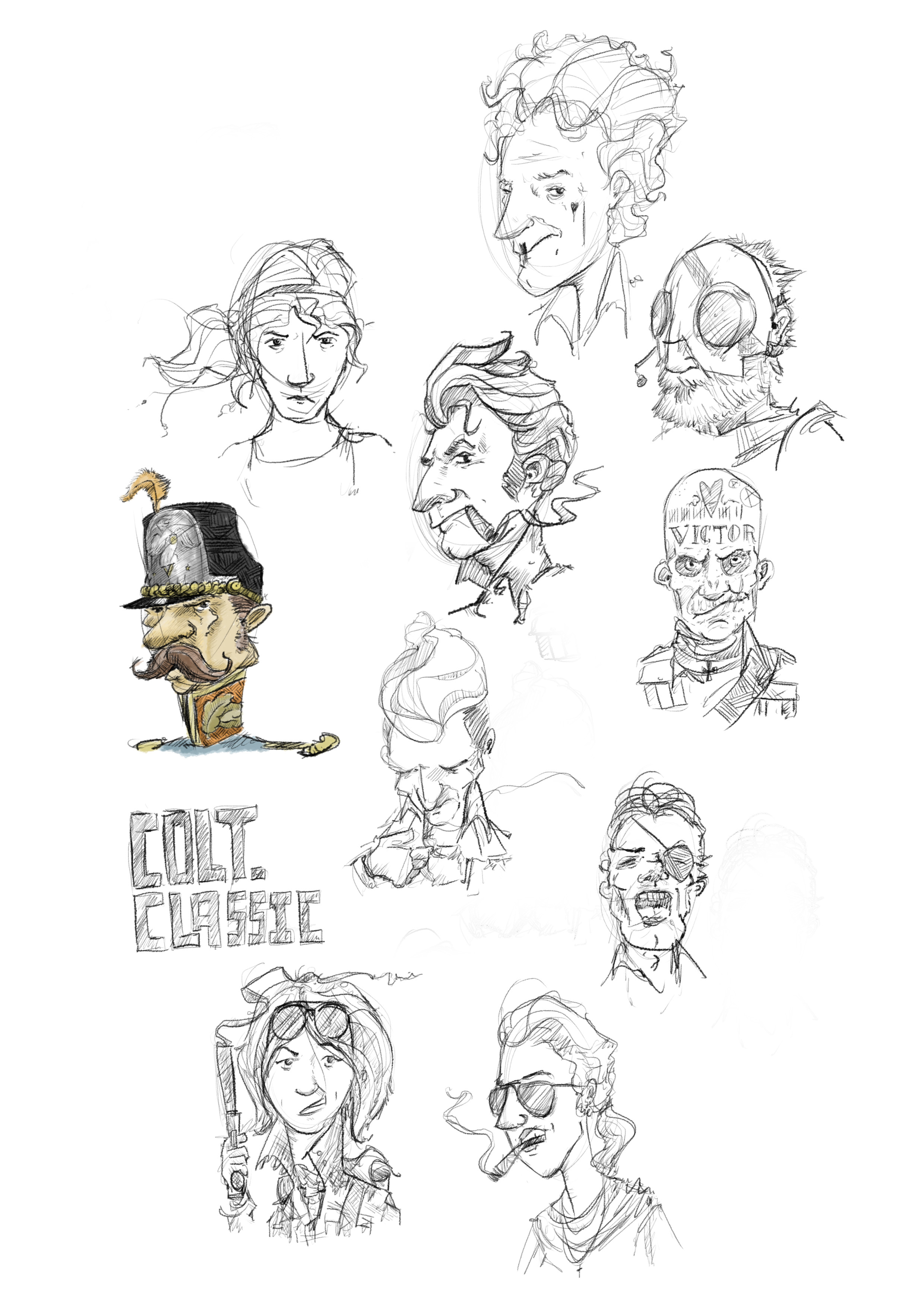 Oliver character art