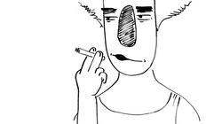 Derek smoking