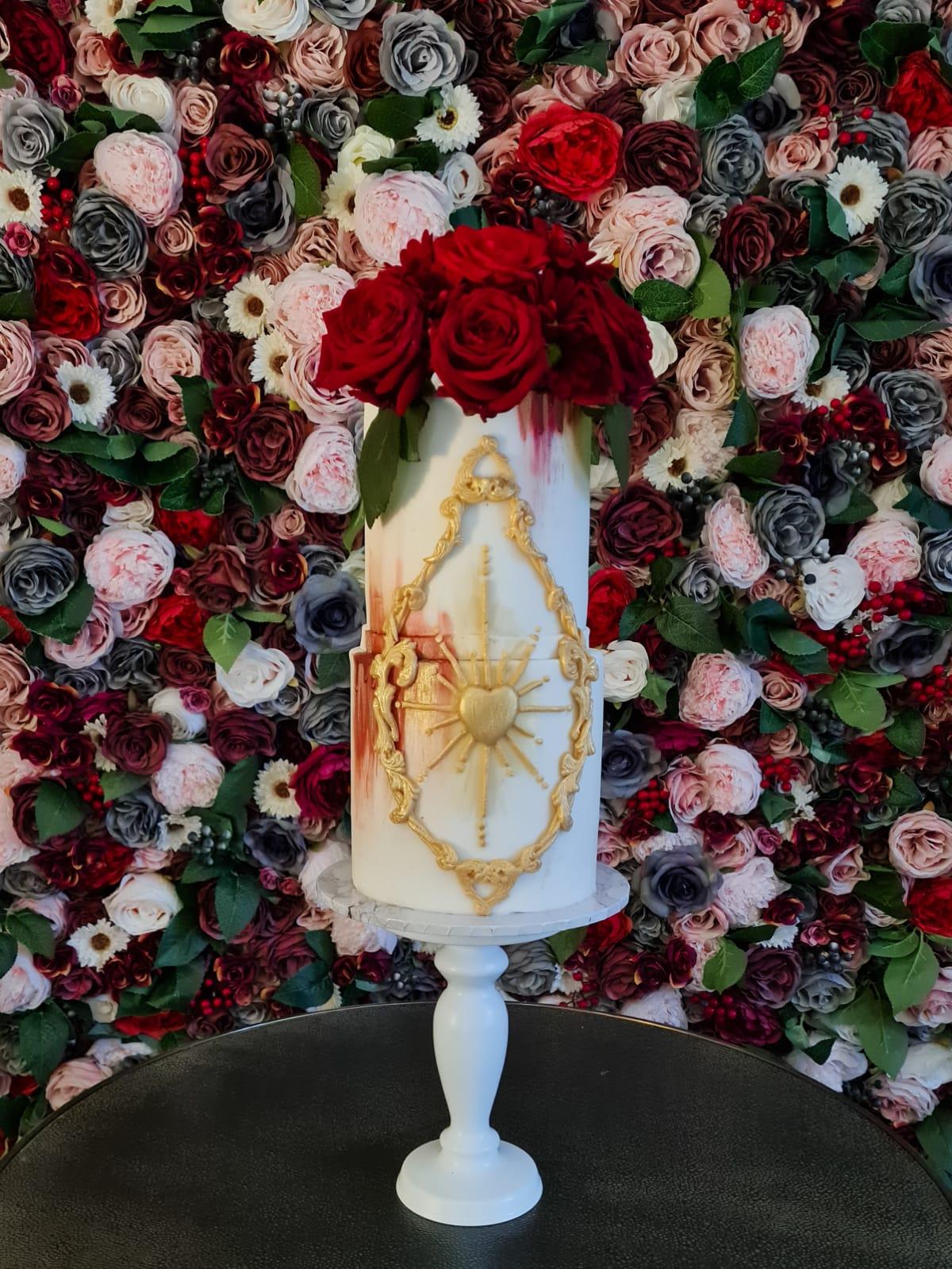 Wedding Cake floral arrangement