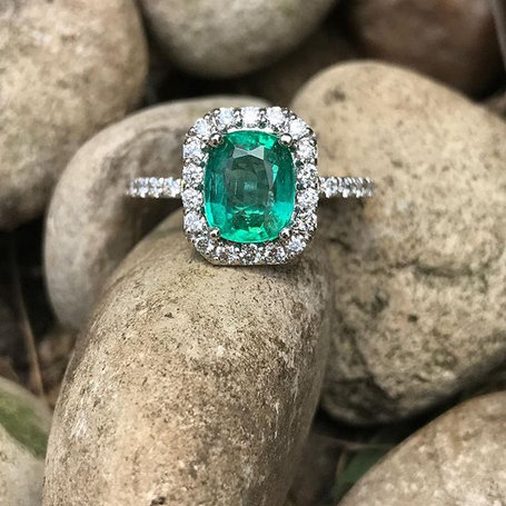 Love the color of this emerald!  My customer wanted her birthstone in her engagement ring. It doesn't always have to be a diamond.jpg