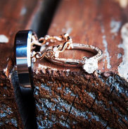 Thank you for the beautiful wedding pic of your custom engagement set.jpg