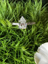Simple and stunning Pear Engagement Ring