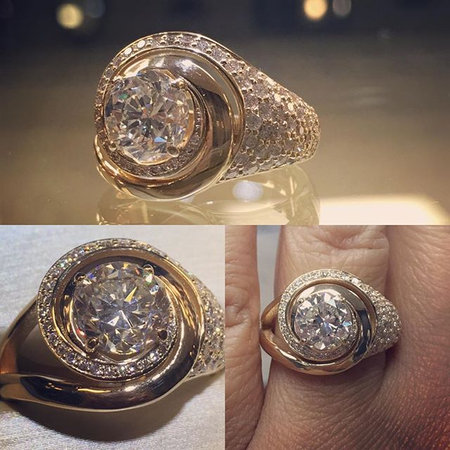 What do you with the engagement diamond when you get divorced after 30 years of marriage_ THIS!!!! #reinvent #righthandring #bling #customje